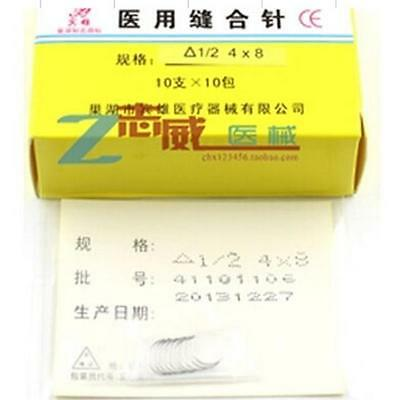 Brand New 10 PCS PACK SUTURE NEEDLES 1/2 CIRCLE Surgical INST M