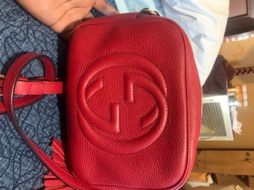 Gucci Soho Disco Bag - Red
