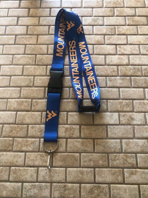 NCAA West Virginia Mountaineers Breakaway Lanyard Key chain