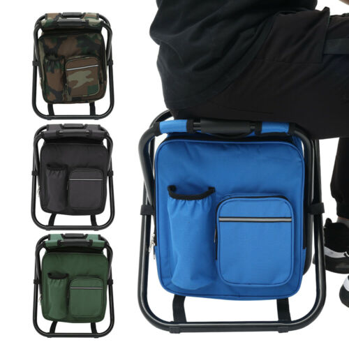 2 in 1 Fishing Hunting Stool Backpack Rucksack Seat Chair Bag Camping Hiking