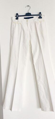 ESCADA White Sailor Style Flair Leg Pants Sz34 US2
