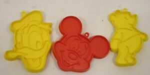 Lot/3 Walt Disney Cookie Cutters Donald Duck Mickey Mouse & Pooh Bear