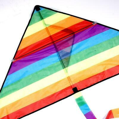 Large Delta Kite For Kids Adults Single Line Easy Kite Fly Handle To K1N3