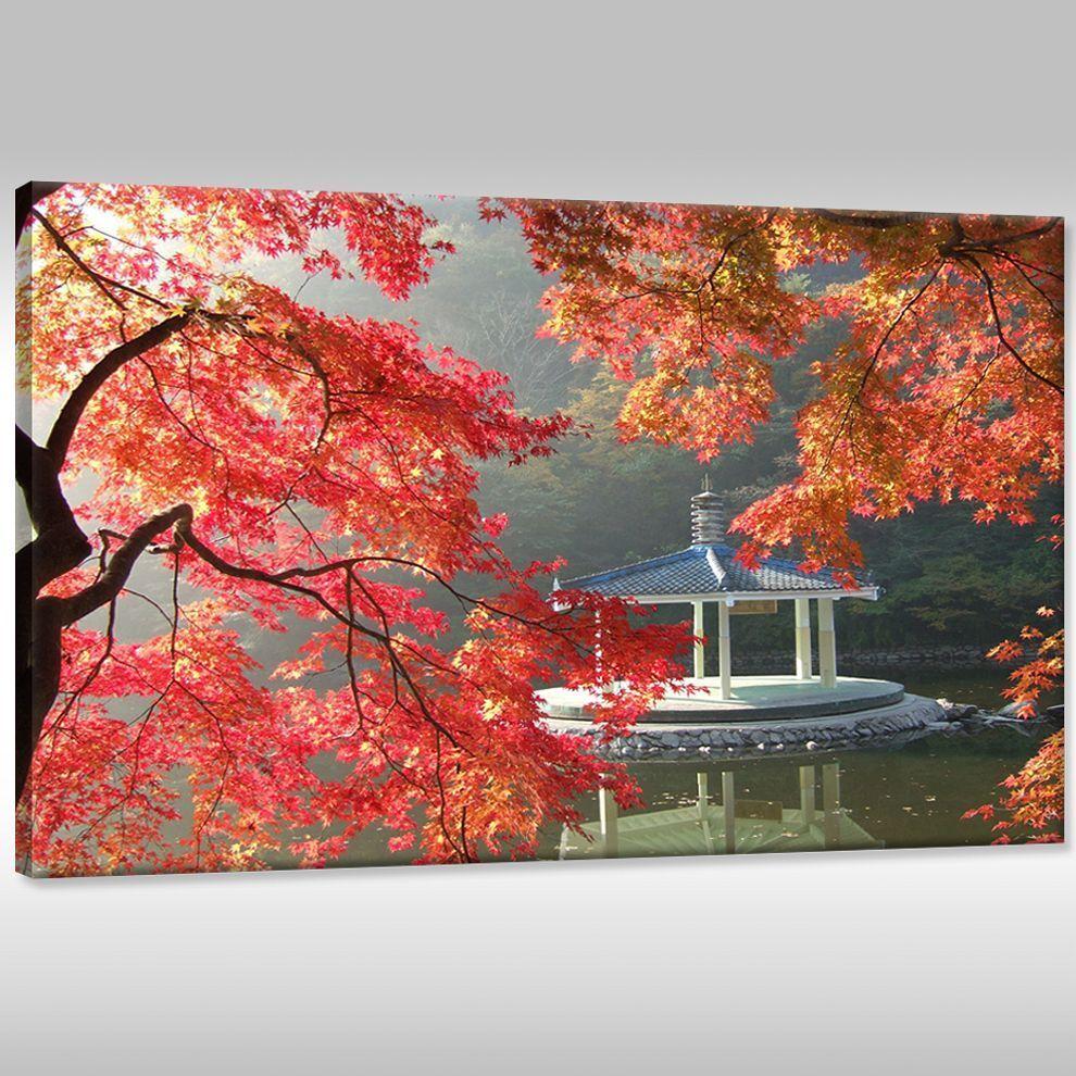 Quadro su tel tela dipinto a parete parete parete stampa artistica telaio con cunei paesaggio d31c13