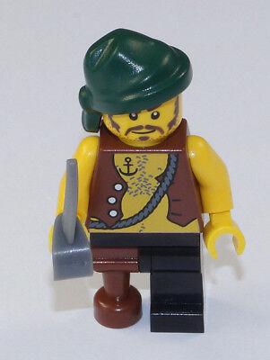 pi158 2530 NEUWARE Alter Pirat mit Anker Tattoo und Degen LEGO Piraten
