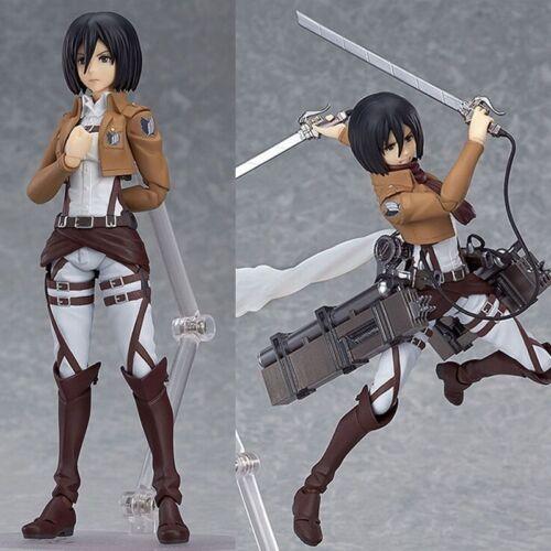 Attack On Titan Action Figure Shingeki No Kyojin Mikasa Ackerman PVC Figma Anime