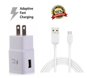 Fast-Rapid-Wall-Charger-Charging-Cable-Cord-For-Samsung-Galaxy-J3-J7-Phone-White
