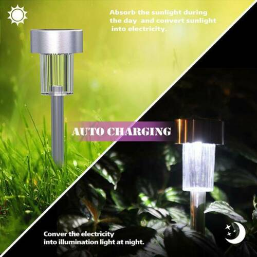 10//20 x Solar Powered LED Garden Lights Post Patio Outdoor Colour Changing Lamp