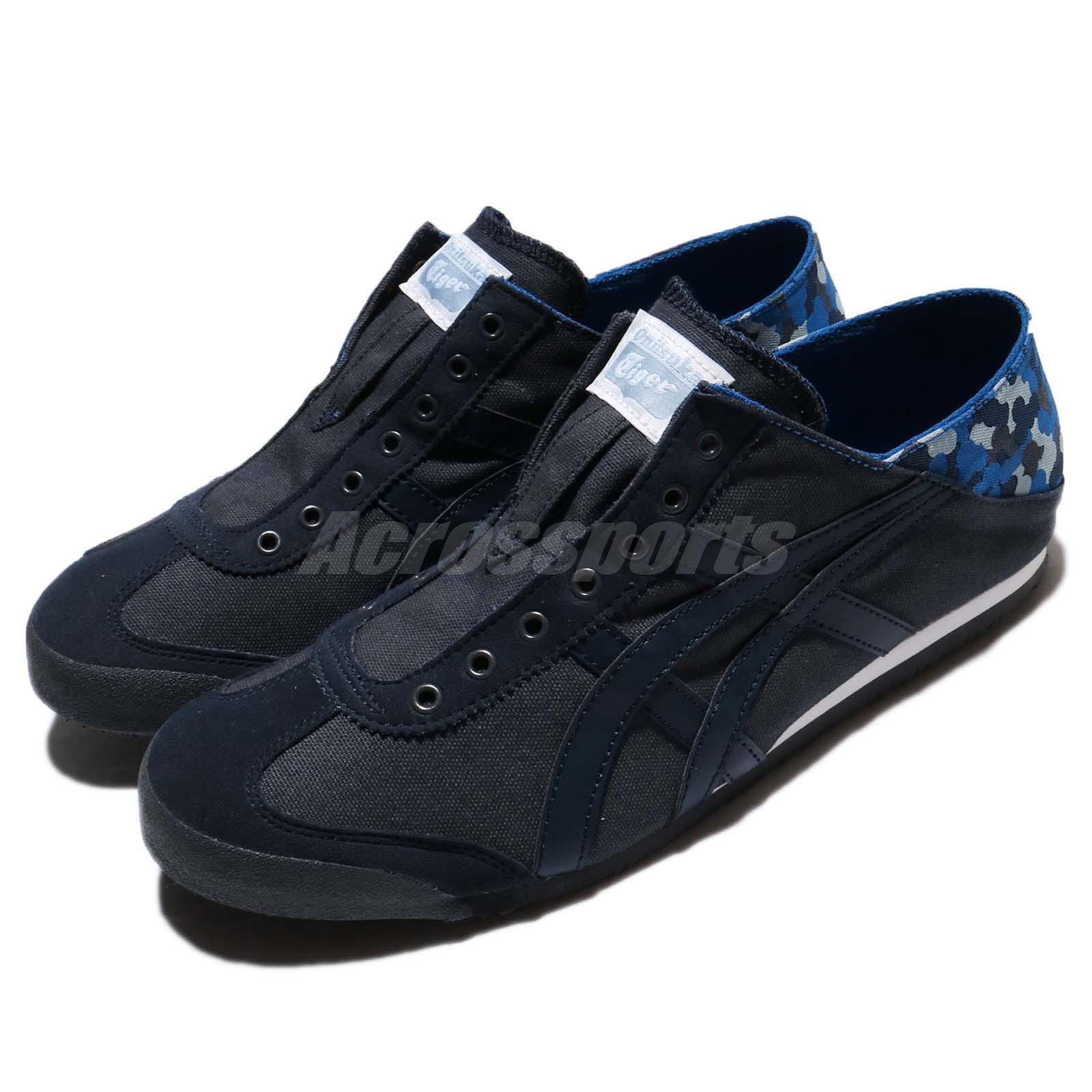 Asics Onitsuka Tiger Mexico 66 Paraty India Ink azul Canvas Men zapatos D7C1N-5858
