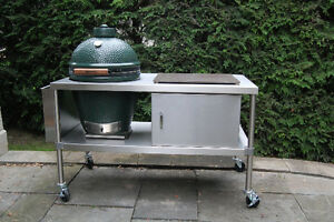 Image Is Loading Stainless Table For Large Big Green Egg Primo