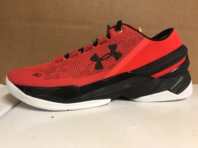 780fa6cee2ba New Under Armour UA Curry 2 Low Rocket Red Black Size 11 (1264001-984