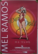 "Farboffsetdruck MEL RAMOS - ""DEVIL DOLL"" 1997, Ausstellungsplakat handsigniert!"