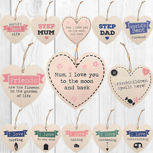 Wooden-Heart-Shabby-Chic-Hanging-Wall-Plaques-Friendship-Relationship-Door-Signs
