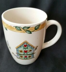 SET-OF-5-THOMSON-POTTERY-BIRDHOUSE-COFFEE-MUGS