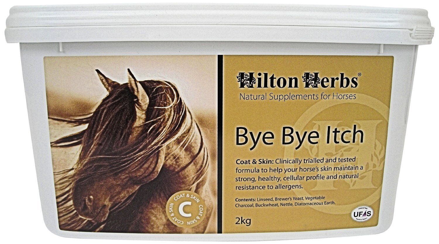 HILTON HERBS BYE BYE ITCH 2KG FOR SUPPLEMENT FOR 2KG HORSES FOR IRRITATIONS 1effa5
