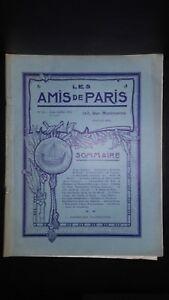 Revista Dibujada Las Amis De París N º 22 Mensual 1913 Gerente Claude Simond ABE