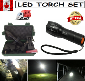 New-Super-Bright-2000LM-T6-LED-USB-Rechargeable-Charger-Tactical-Flashlight
