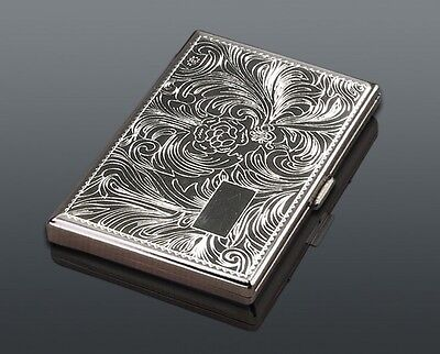 Big Super Kingsize CIGARETTE CASE..... Smoker Smoking metal Tin Box gift present