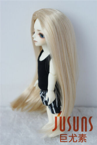 4-5inch Long Forest Straight Doll Wig 1//12 Synthetic Mohair BJD Hair 4color