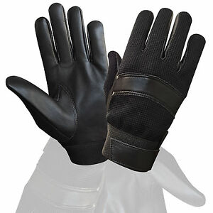 TOP-QUALITY-REAL-LEATHER-POLICE-GLOVES-TACTICAL-SECURITY-SEARCH-DUTY-PETORL-7002