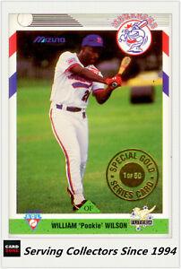 1993 Futera Australia Baseball Limited Edition Gold Card Pookie Wilson 1 Of 50