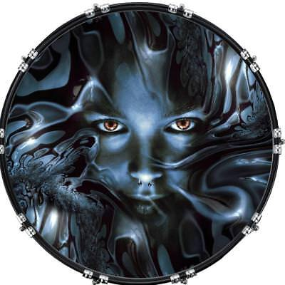 22 custom bass kick drum front head graphic graphical thru the ripples ebay. Black Bedroom Furniture Sets. Home Design Ideas
