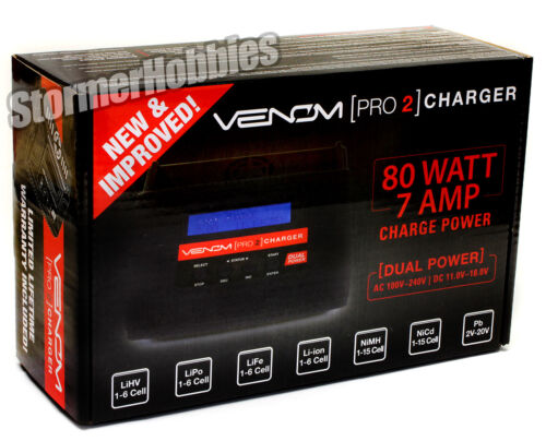 NEW 2019 BLACK VERSION Venom Pro 2 LiPo//NiMH AC//DC RC Battery Charger 0677 PRO2