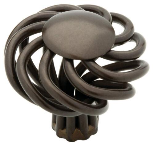 "Avante 65102RB  1 1//2/""  Wire Swirl Cabinet Drawer Knob Pull Oil Rubbed Bronze"