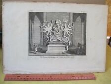 Vintage Print,INDIAN GOD IXORA,Copper Plate,18th Cent,Native American