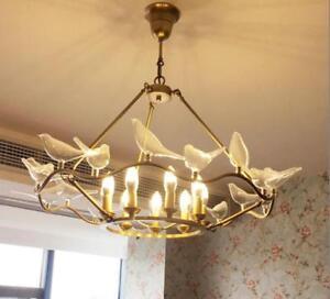 Birds Chandelier Gold Metal Pendant
