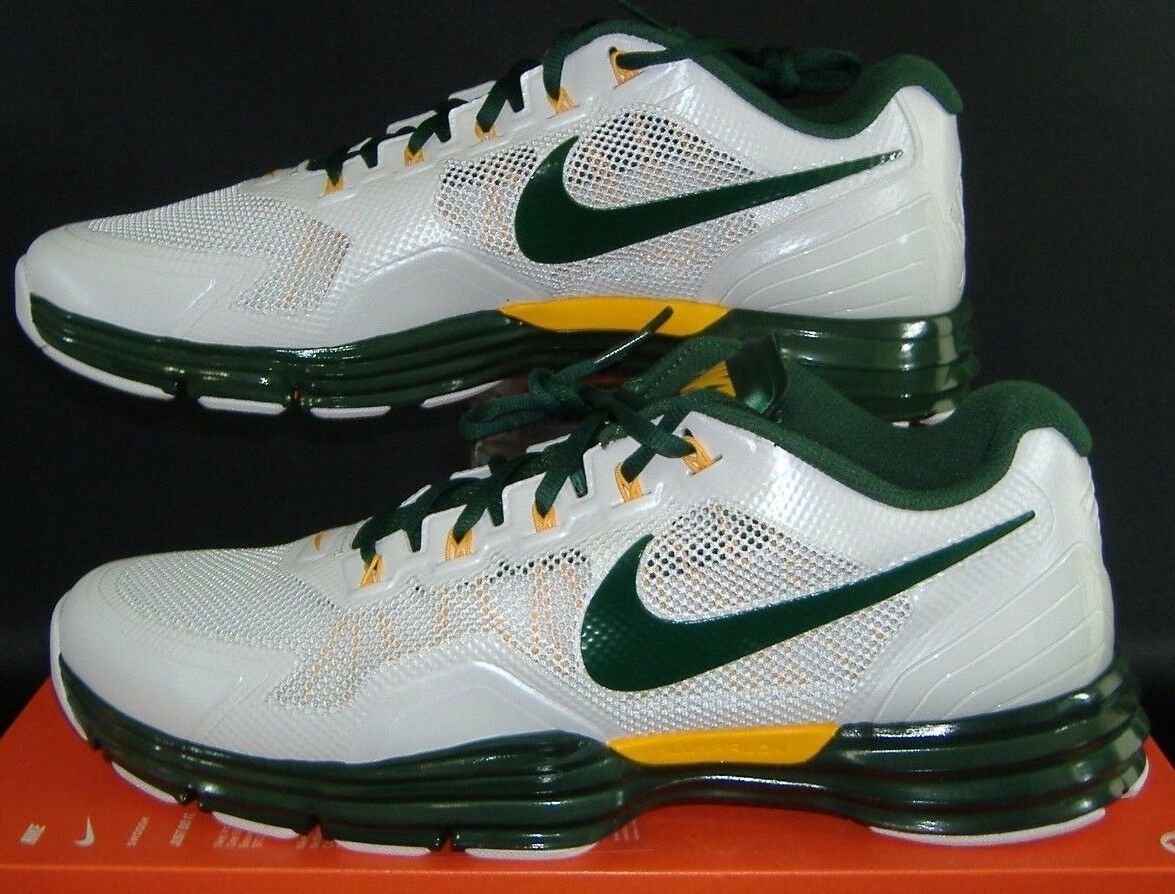 New Mens 18 NIKE Lunar Trainer TR1 PF Green Yellow Green Bay Packers shoes 125