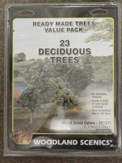 94 model railroad TREES Woodland Scenics  2 - 6  Pine & Deciduous TR1580 81 70 7