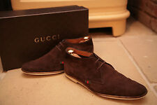 Gucci Mens Made In Italy Brown Suede Chukka Style Boot Shoes Size UK 8