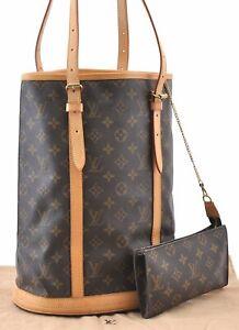 Authentic-Louis-Vuitton-Monogram-Bucket-GM-Shoulder-Bag-M42236-LV-92557