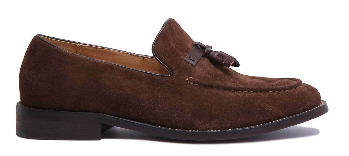 Justin Reece Tony  Smart  Herren Smart  Bow Slip on Premium Suede Loafer Größe UK 6 - 12 0f57f5
