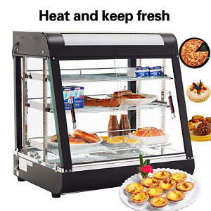 3-Tiers-Commercial-Food-Pizza-Warmer-Cabinet-Counter-top-Heated-Display-Case