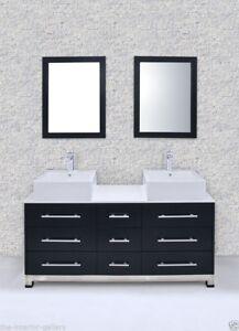 Superb Details About Bathroom Vanity Modern Bathroom Vanity Set Double Sink Primavera 59 Interior Design Ideas Truasarkarijobsexamcom