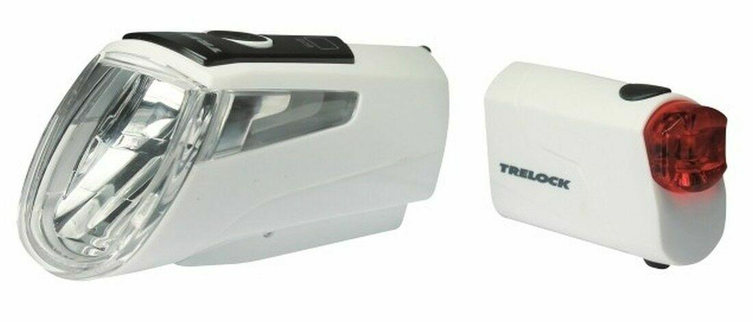 Trelock LS 460 I-GO POWER+LS 720 Akkubeleuchtung-Set weiß 2019