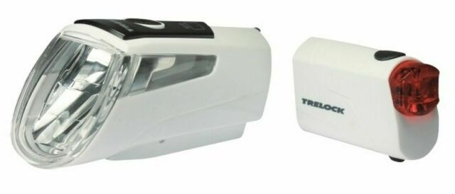 TRELOCK I-GO POWER LS 460 / 720 weiß Fahrrad Beleuchtung Set 30 Lux StVZO USB