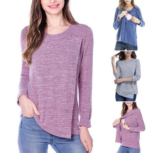 Mutterschaft Umstandsmode Damen Stillshirt Umstandsshirt Summer Mode New