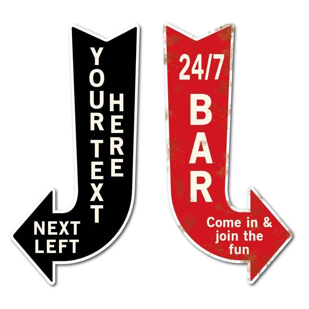 FRECCIA vintage personalizzato segno, SHOP CAFE BAR sign cartello cartello cartello direzione HOME BAR SIGN aa2023