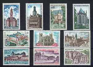 France-10-timbres-non-obliteres-gomme-17-Architecture