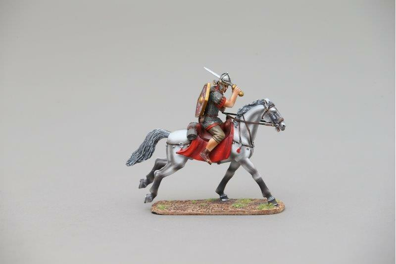 THOMAS GUNN ROM095A - Roman Cavalry Legionnaire (Red) Painted Metal Figure
