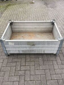Stabile Alu Box Mit Kranosen Stapelbar Europaletten Mass Stapelbox