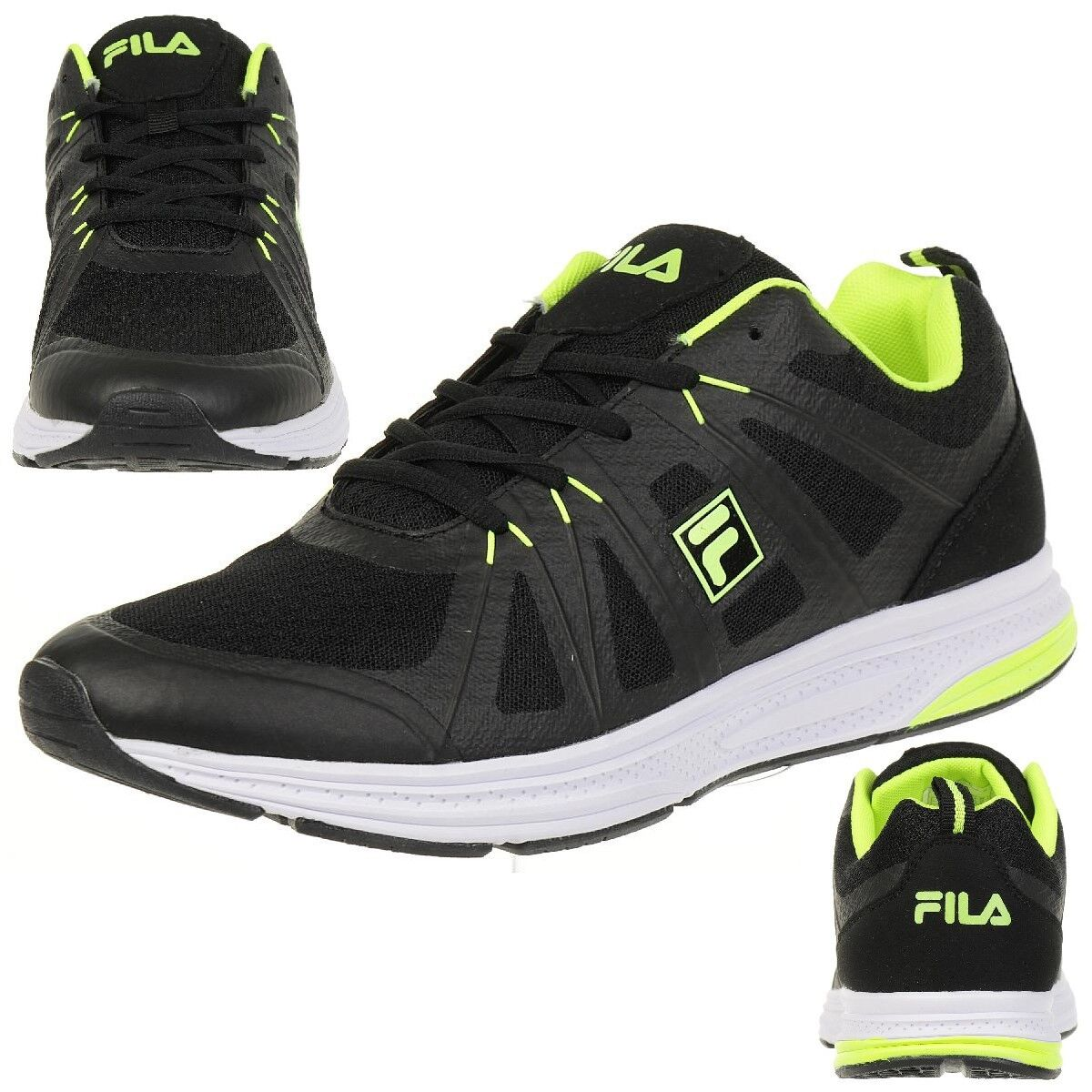 Fila Colt Bas Course Chaussure de Course Course Homme Baskets black Confort Foam