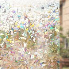 Rabbitgoo ® 3D no adhesivas estática de vidrio decorativo de privacidad película de la ventana Anti-UV