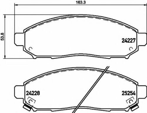 MINTEX CAR BRAKE PADS front MDB3201 Replaces D1060ZP00A,D1M60CY70B,PAD1867