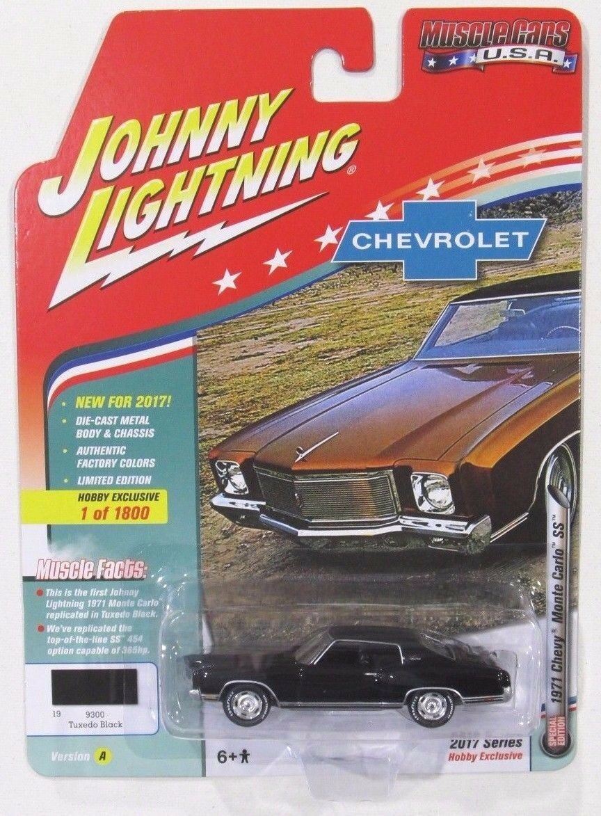 1:64 Johnny Lightning Chevrolet Monte Carlo 1971  by RACEFACE-MODELCARS