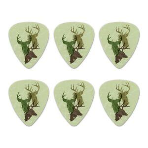 100% De Qualité Deer Heads Trio Chasse Chasseur Camo Nouveauté Guitar Picks Medium-lot De 6-afficher Le Titre D'origine Forte RéSistance à La Chaleur Et à L'Usure