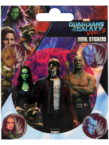 5 stickers Marvel Guardians of the Galaxy Vol 2 Vinyl Sticker 1 sheet